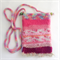 Unique embellished felt crossbody pouch/ phone pouch/ with floral theme.