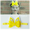 Bunny Felt Bow Headband Easter Headband (Yellow Chick)