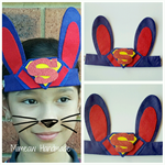 Boy Easter Bunny Head Wear - Super Hero Superman