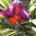 Woodland twig art doll