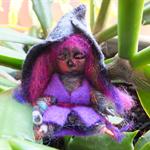 Tiny witch art doll
