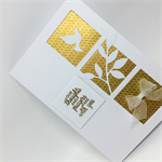 Sympathy Card - Thoughts and Prayers, White and Gold