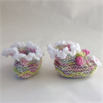 Rainbow knit booties. 0-3 month size.
