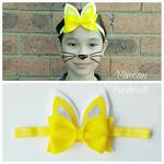 Bunny Felt Bow Headband Easter Headband (Yellow Chick)