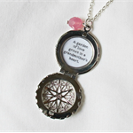 Grandmother Quote Necklace Locket Handmade Silver Typography Jewellery Jewelry