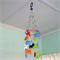 Felt nursery mobile with parrots,whale,turtle, dinosaurs,rhinoceros,rabbit,fish,