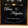Chalkboard Wedding Sign Personalised custom made, Adventure begins, names & date