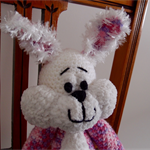 Candy - hand crocheted bunny rabbit ; OOAK, safe, washable, easter
