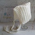 Cream Newborn Baby Bonnet