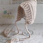 Fawn Newborn Crochet Baby Pixie Bonnet Beanie Hat Photo Prop