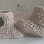 Fawn Crochet Baby Booties