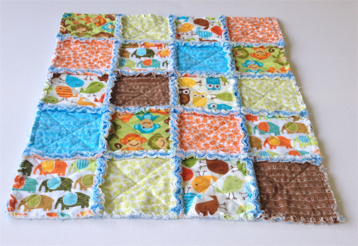 Small Rag Quilt - suit pram or bassinet | Wendy-J Quilts on Madeit
