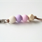 Pastel Pink, Lavender Purple and White Stone Polymer Clay Keyring/Bag Charm