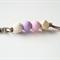 Pastel Pink,  purple and white stone keyring