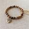 Jasper Gemstone Bracelet with Tree charm