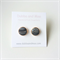 Black marble polymer clay and rose gold earrings