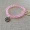 Pink Quartz Gemstone Bracelet with Tree charm