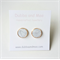 Marble polymer clay and rose gold earrings
