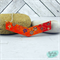 Orange, Red & Purple Japanese Chiyogami Paper Covered Wood Chevron Necklace