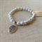 White Howlite Gemstone with Oval Tree charm