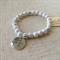 White Howlite Gemstone Bracelet with charm