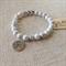 White Howlite Gemstone Bracelet with Tree charm
