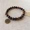 Tiger Eye Gemstone Bracelet with Tree charm