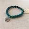 Chrysocolla Gemstone Bracelet with Tree charm
