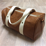 Gorgeous Italian Tan Leather Dallas Duffle Bag