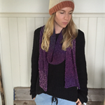 Scarf long winter scarves women's men's accessories knitted scarf blue