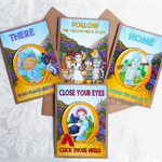 Wizard of Oz Novelty Friendship Birthday Greeting Cards Pack of 4