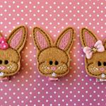 """2"""" Felt Easter Bunny Hair Clip"""