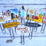 Wizard of Oz  Planner Clip Set of 11-Journal Clips-  Planner Clips