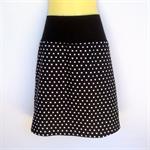 Retro Black Polka Dot A Line Skirt - ladies sizes avail. spot, rockabilly, 50