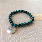 Chrysocolla Gemstone Bracelet with Charm