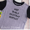 Nap Build Destroy Repeat Raglan Sleeve T-shirt Size 2 *FREE POSTAGE*