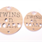 Twins on Board Wooden sign for car - 14cm diameter