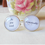 The Princess Bride Cuff Links Quote Cufflinks Wedding Groom Typography