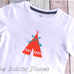 Orange Tee Pee with arrows T-shirt Size 3