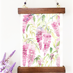 Wisteria Watercolor Painting, Original Watercolor Painting, Home Decor,A4
