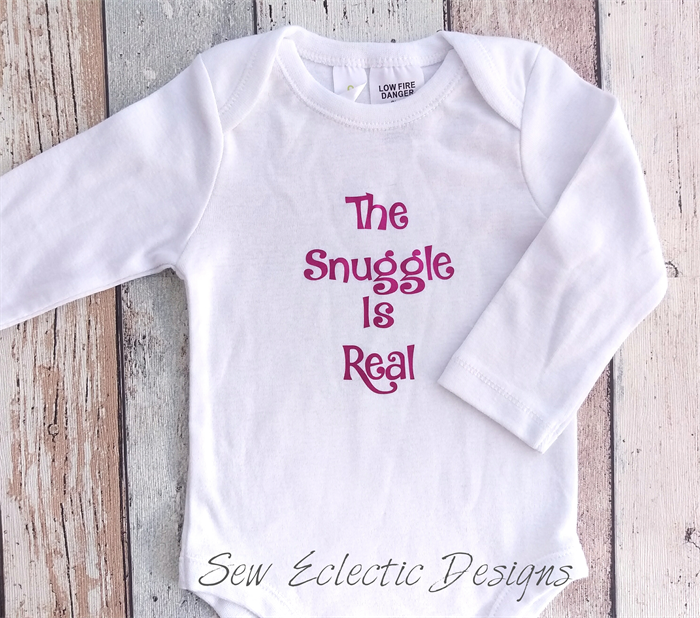 8777e9273 The Snuggle Is Real L/S Onesie Size 0 *FREE POSTAGE* | Sew Eclectic Designs  | madeit.com.au