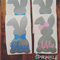 Personalised Small Vinyl Bunny Label for Easter with name