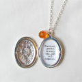 Mary Poppins Quote Locket Necklace Bridal Silver Charm Customized Jewelry