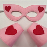 ~ Girls Mask & Cuff Superhero Set ~