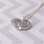 Personalised Initial Necklace | Custom Hand | Stamped Sterling Silver