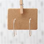 Tiny Drop Earrings | Open Hoop Earrings | Sterling Silver