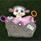 Pinky the Lamb Lovey, Comforter, Snuggly toy