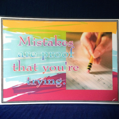 Inspirational ' Mistakes are proof…' Mini Poster