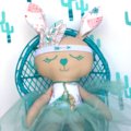 OOAK Tribal Easter Bunny: 3 of 12 from our Limited Edition Easter Collection