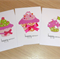 Set 3 Female Happy Birthday cards - cupcakes